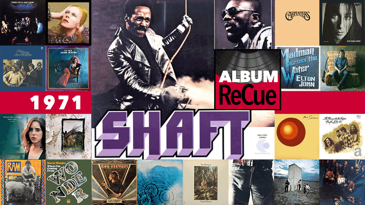 Album ReCue 1971: Isaac Hayes's Shaft (collage by Laura Fedele)