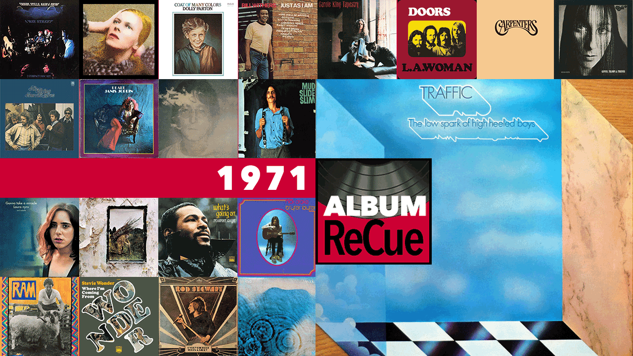 1971 Album ReCue: Traffic (collage by Laura Fedele for WFUV)