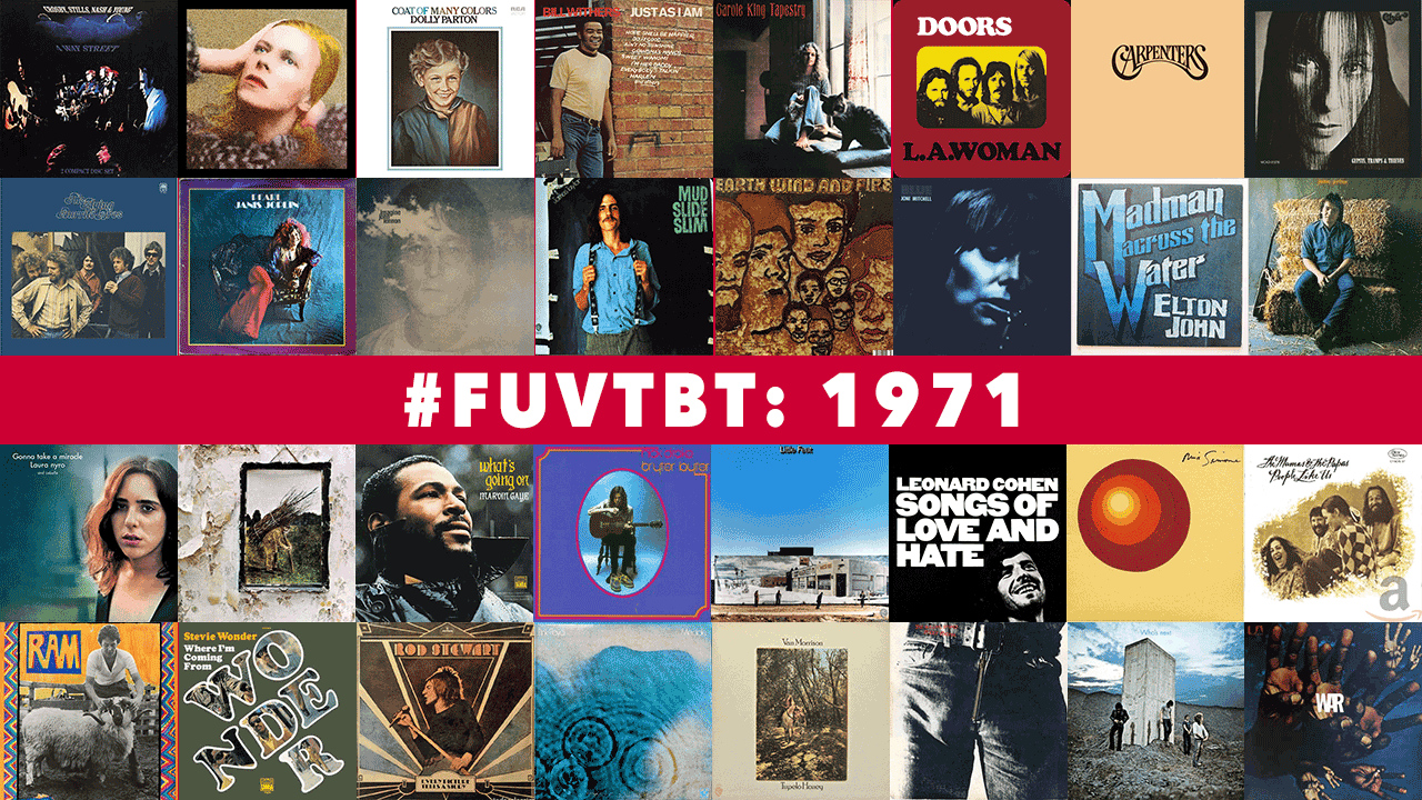 1971 Throwback Thursday (collage of albums by Laura Fedele for WFUV)