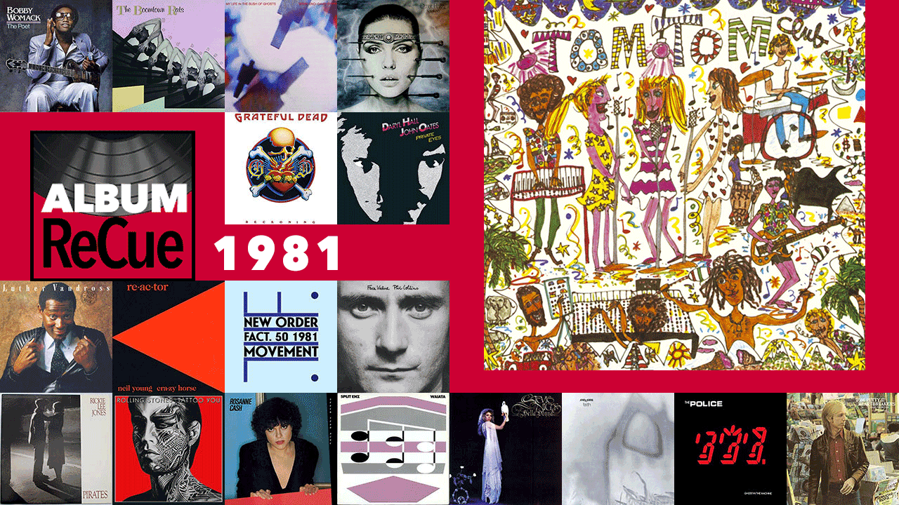 Tom Tom Club: 1981 (collage by Laura Fedele for WFUV)