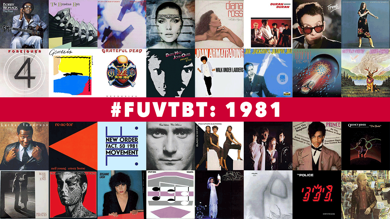 1981 Throwback Thursday (collage by Laura Fedele for WFUV)