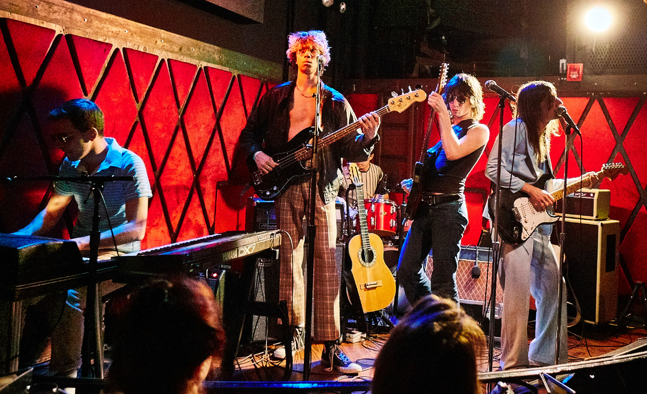 The Lemon Twigs at Rockwood Music Hall (photo by Gus Philippas/WFUV)