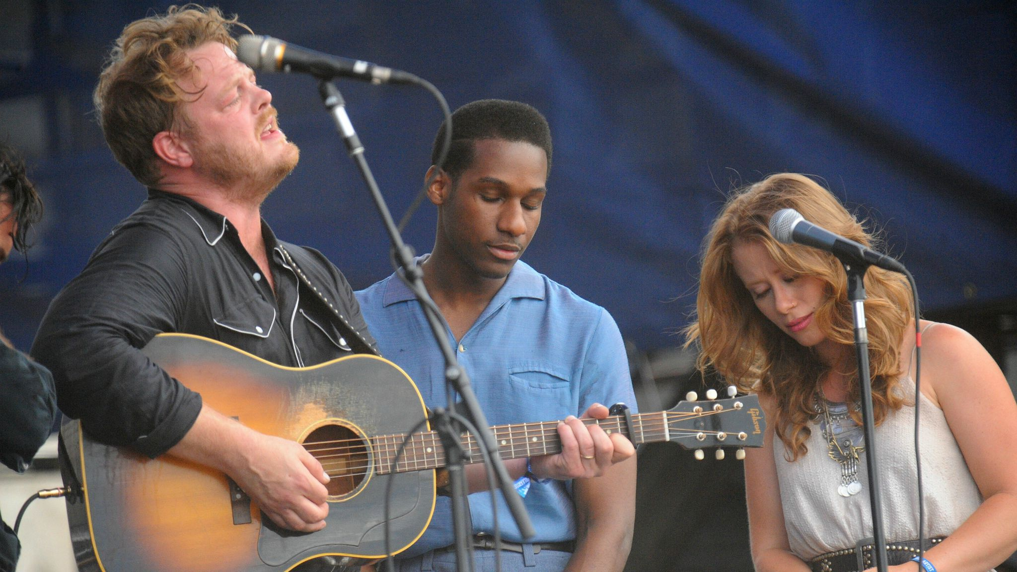 The Lone Bellow & Leon Bridges at Newport Folk 2015, photo by Neil Swanson/WFUV