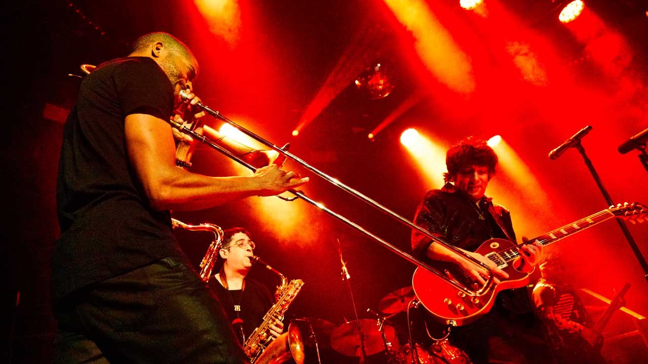 Trombone Shorty & Orleans Avenue (photo by Gus Philippas/WFUV)
