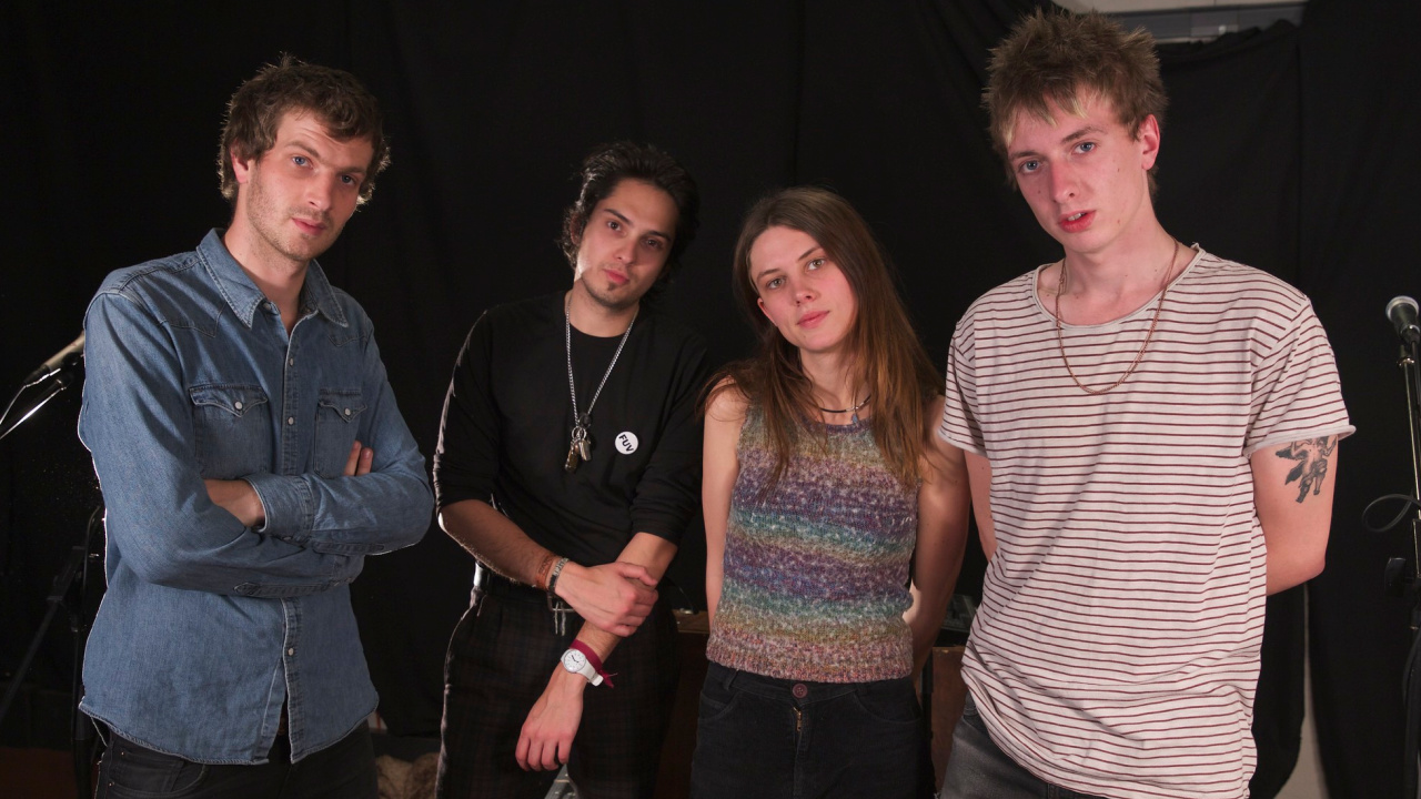Wolf Alice in Studio A (photo by Michael Shemenski/WFUV)