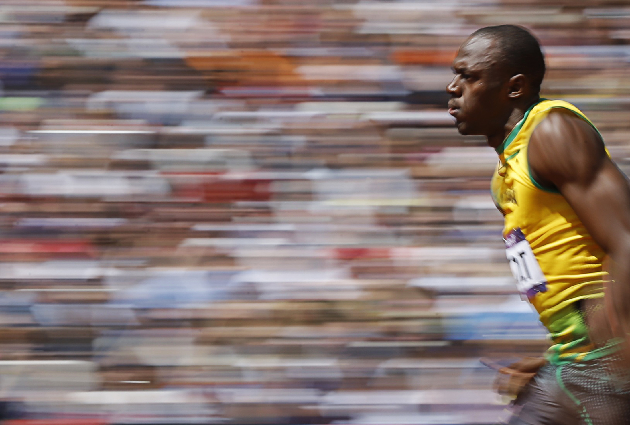 Bolt bolts into first place