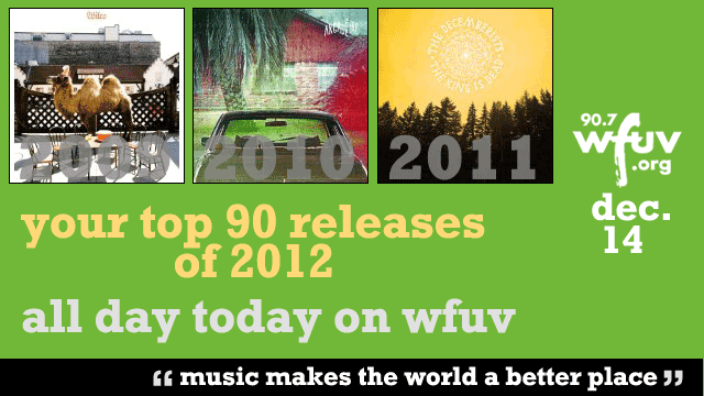Our Top 90 Albums of 2012 list, based on your votes: Follow along all day on FUV!