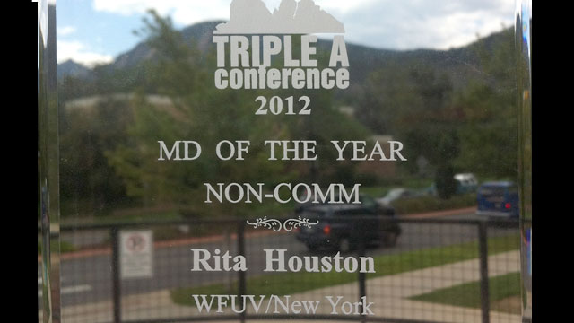 Congratulations to our own Rita Houston, FMQB's 2012 Music Director of the Year.