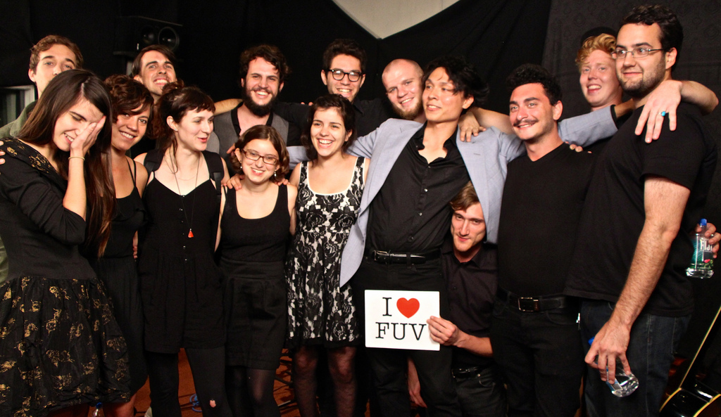 Hear 16-piece band Mother Falcon perform live on WFUV, tonight at 9.