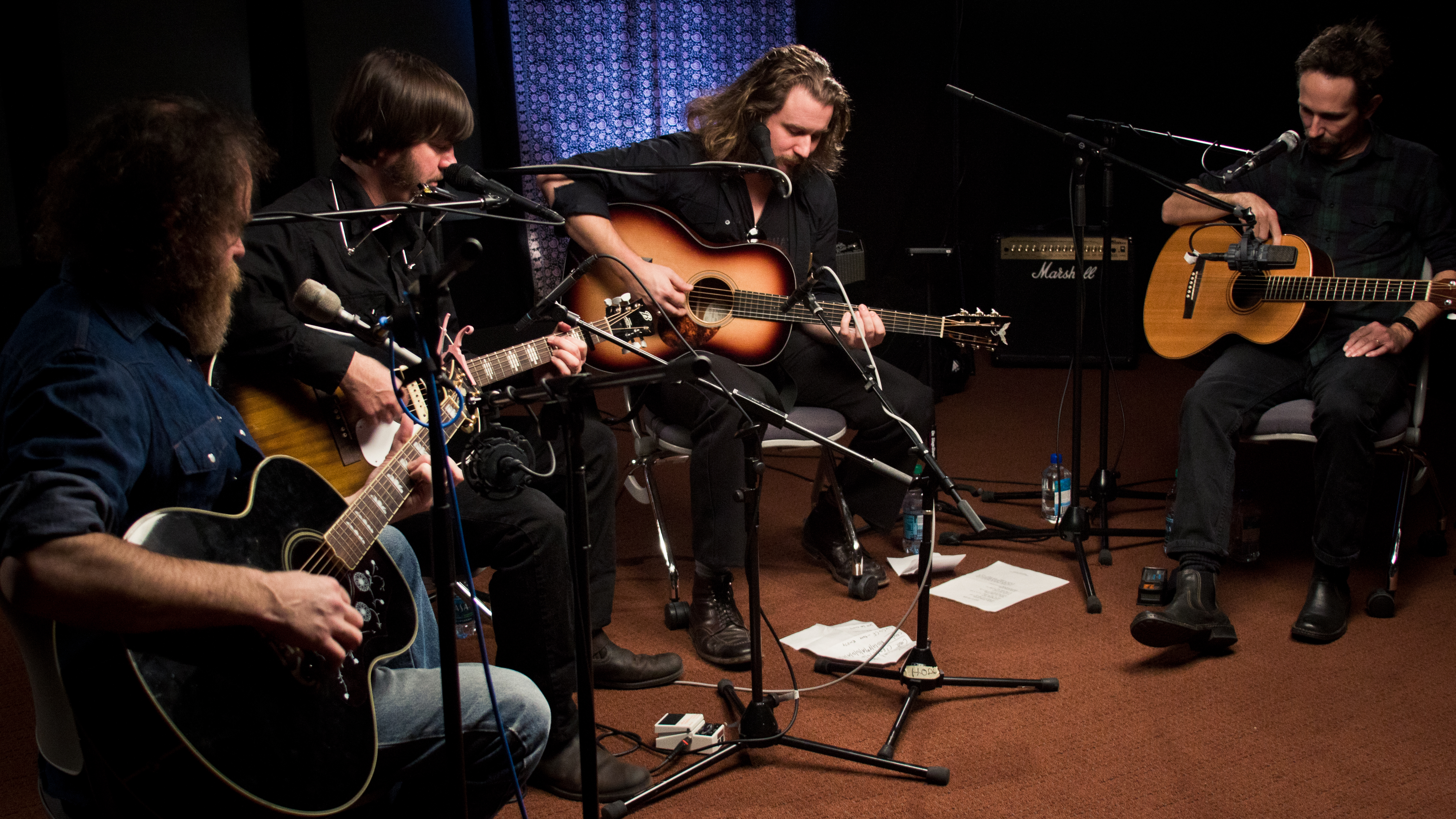 New Multitudes in Studio A (photo by Tim Teeling/WFUV)