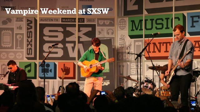 "WFUV at SXSW: Listen to Vampire Weekend's short but floor-shaking set, and watch video of their new song ""Unbelievers."""