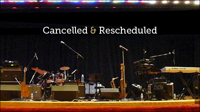 Cancelled or Postponed Concerts Due to Sandy