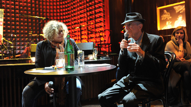 Monday at 9pm on Words and Music: A conversation with Leonard Cohen from Joe's Pub.