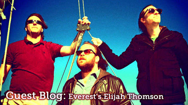 Blog part 4: Everest leaves town and tells New York stories to Southern Californians in pretend-Kentucky.