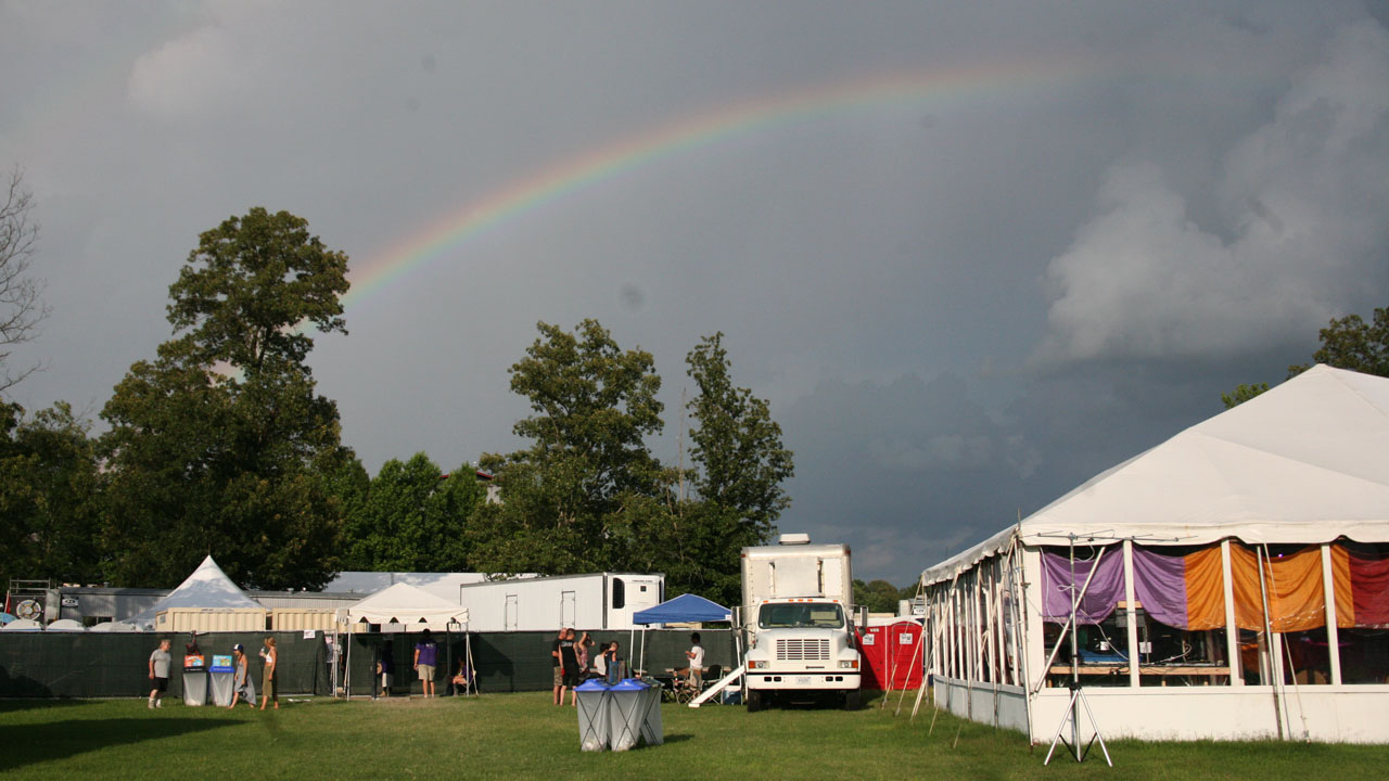Peek through the clouds for Rita Houston's first day of Bonnaroo.