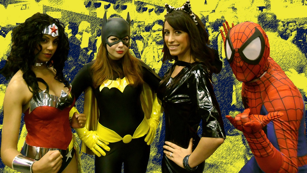 comic-con-wonder-woman-bat-girl-cat-spiderman