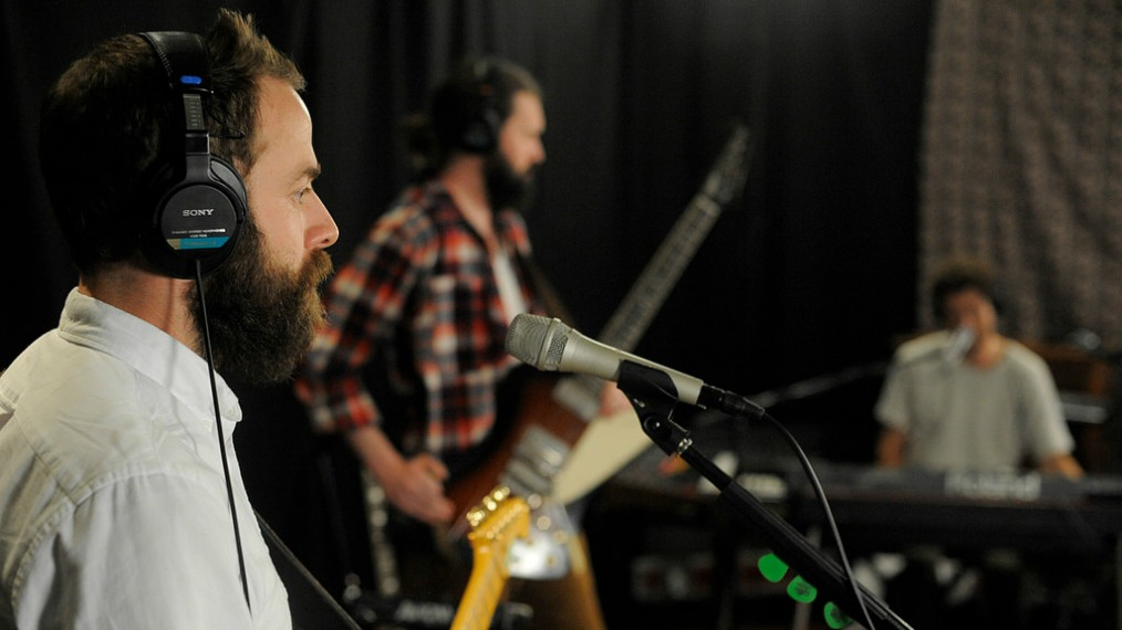 Dawes in Studio A (photo by Neil Swanson/WFUV)