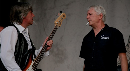 GBV's still-smoking Greg Demos and Robert Pollard (courtesy Joe Grimaldi & Bailey Baffert)