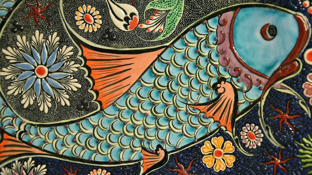 Mosaic fish tile (photo courtesy of Pixabay)
