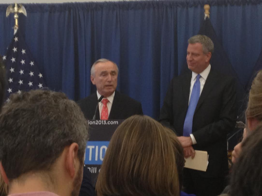 Mayor-Elect de Blasio Appoints Bill Bratton as NYC's next Police Commissioner