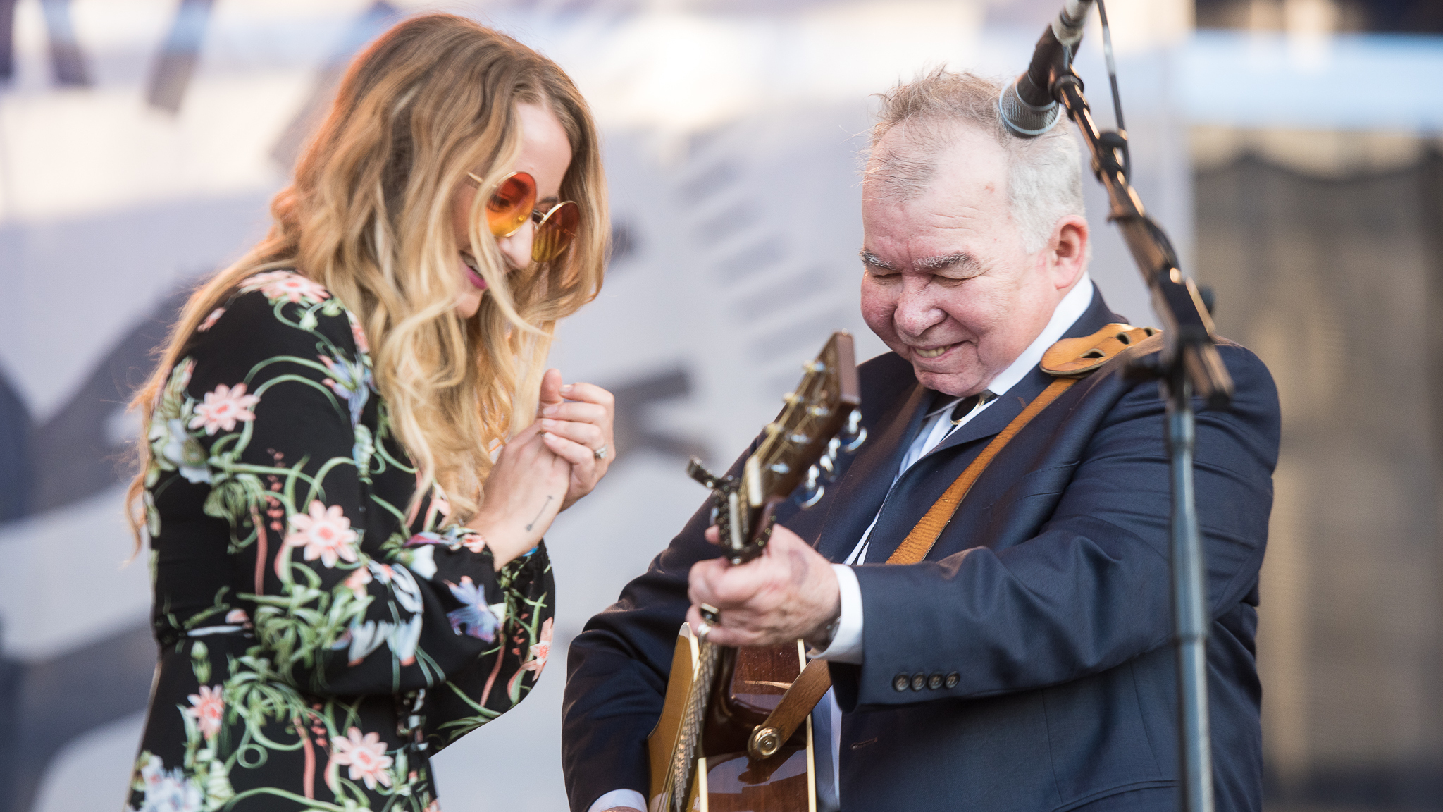 Margo Price and John Prine (photo by Adam Kissick for NPR)