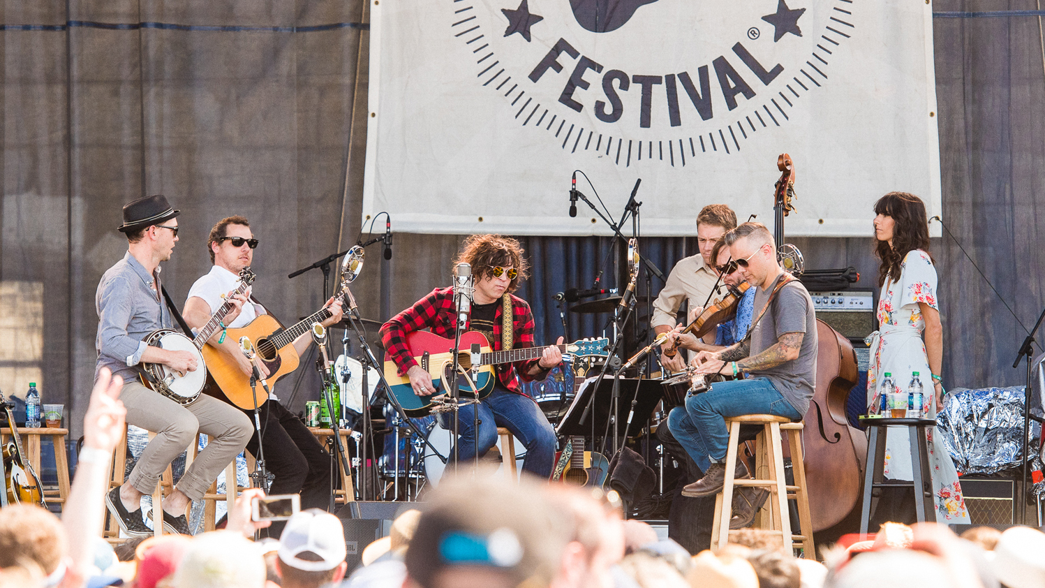 Ryan Adams with The Infamous Stringdusters at Newport Folk Festival