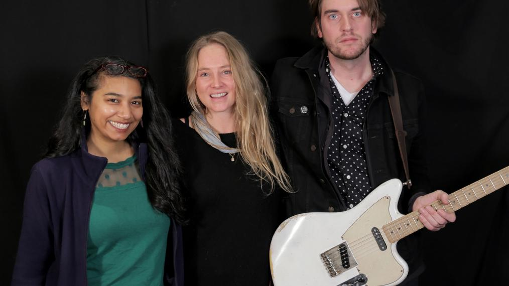 Lissie with guitarist Stanton Edward and WFUV's Alisa Ali