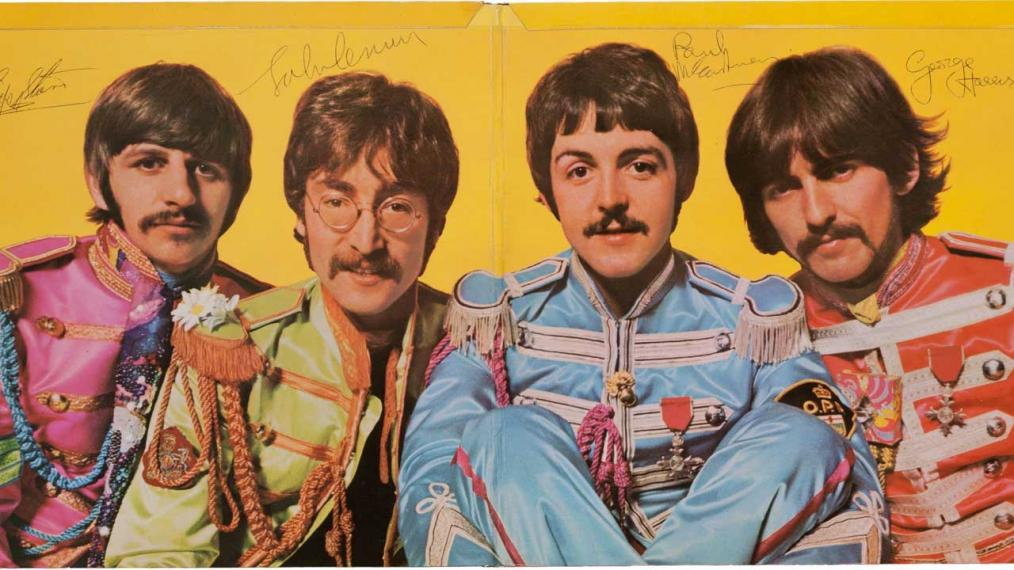 A copy of Sgt. Pepper's Lonely Hearts Club Band autographed by all four members (courtesy of the AP and Heritage Auctions of Dallas from 2013)
