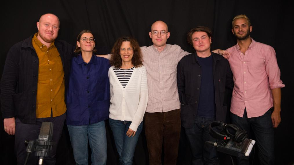 Bombay Bicycle Club with Kara Manning in Studio A (photo by Steven Ruggiero/WFUV)