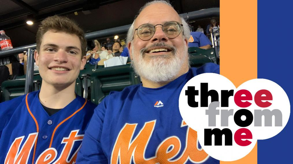 Darren DeVivo and his son, aka diehard Mets fans (photo courtesy of Darren DeVivo/WFUV)