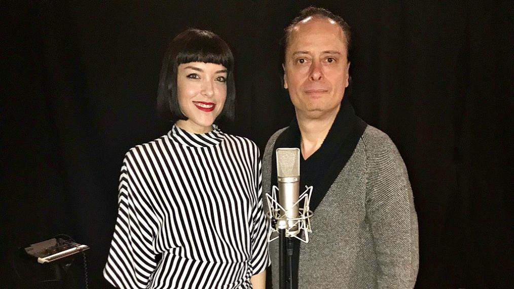 """Elise LaGrow and """"Cavalcade"""" host Paul Cavalconte (photo by Jeremy Rainer)"""