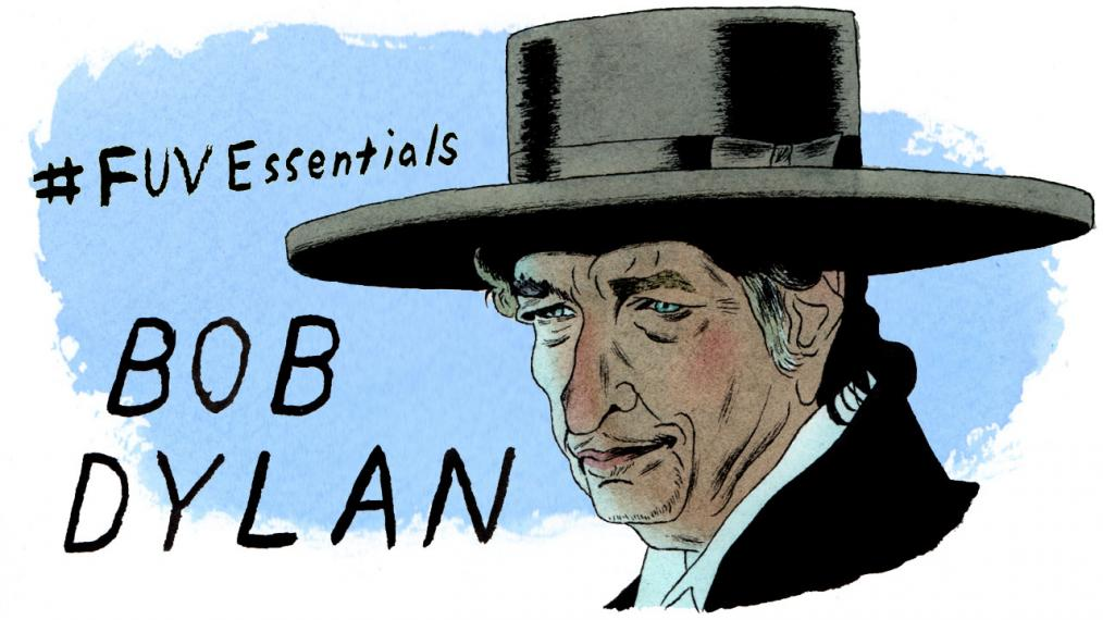 Bob Dylan (illustration by Andy Friedman)