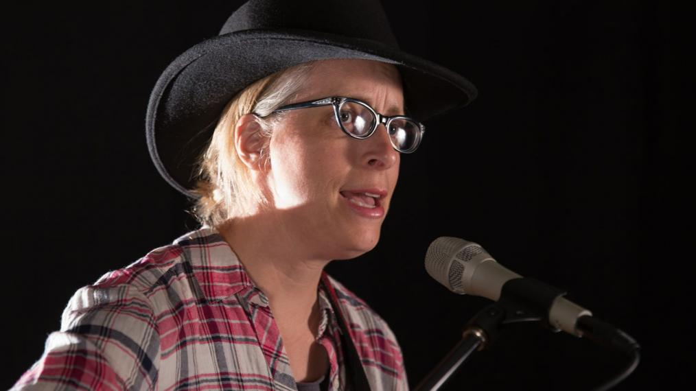 Laura Veirs in Studio A (photo by Dan Tuozzoli/WFUV)