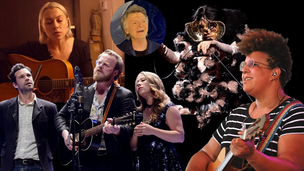 Clockwise from top left: Phoebe Bridgers, Neil Finn, Björk, Brittany Howard, The Lone Bellow.