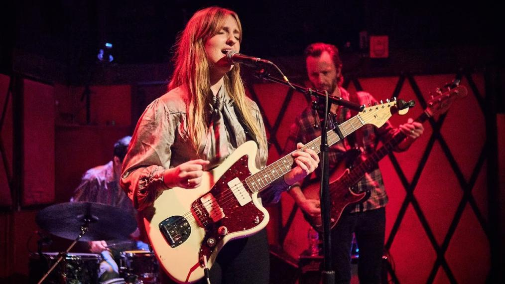 Madison Cunningham and band at Rockwood Music Hall (photo by Gus Philippas/WFUV)
