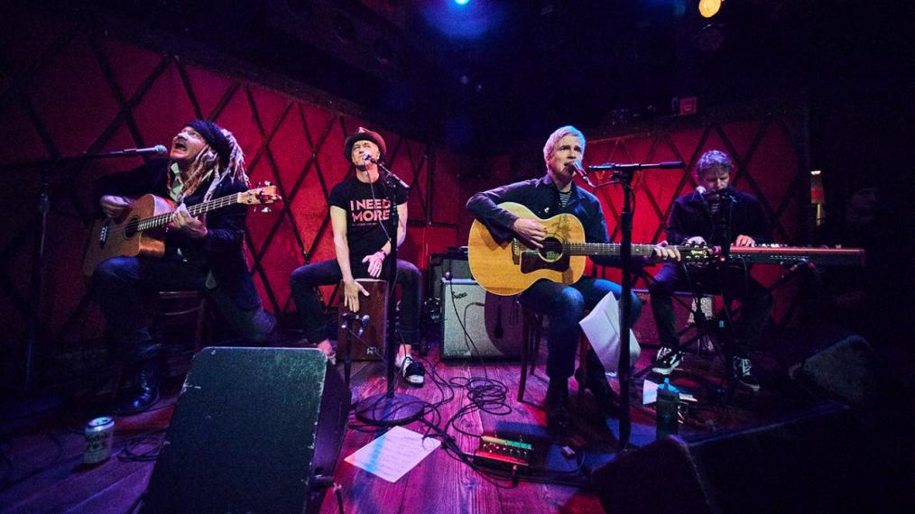 Nada Surf at Rockwood Music Hall (photo by Gus Philippas/WFUV)