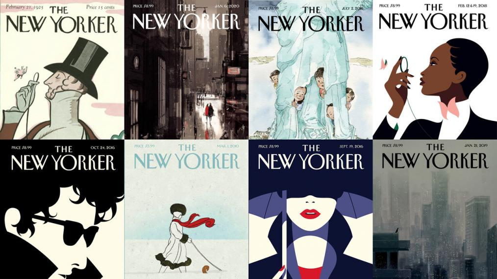 The covers of The New Yorker (courtesy of NewYorker.com)