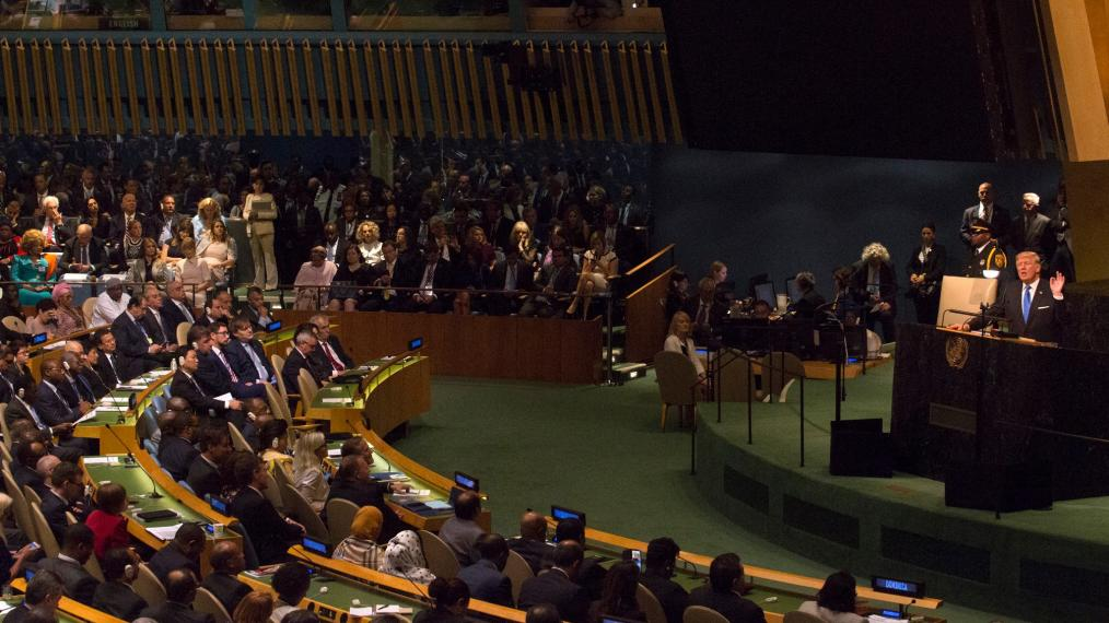 President Donald Trump addresses the 72nd Session of the UNGA