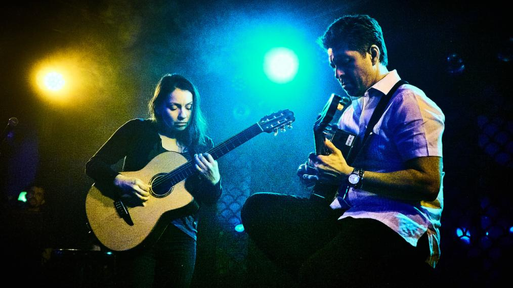 Rodrigo y Gabriela at The McKittrick Hotel (photo by Gus Philippas/WFUV)