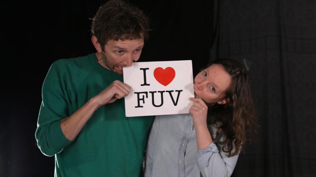 Sylvan Esso in Studio A (photo by Deirdre Hynes/WFUV)