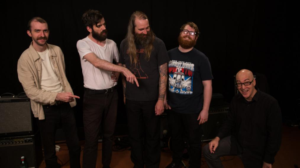 Titus Andronicus with Eric Holland in Studio A (photo by Steven Ruggiero/WFUV)