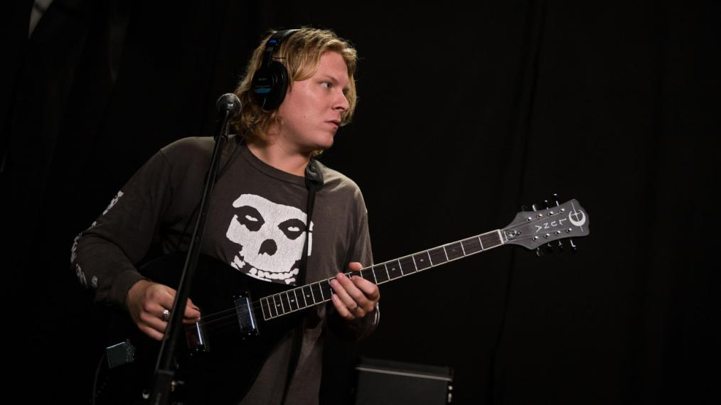 Ty Segall in Studio A (photo by Kay Kurkierewicz/WFUV)