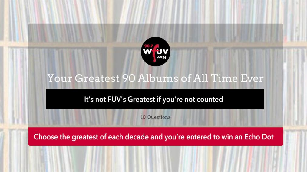 Vote for the greatest albums ever