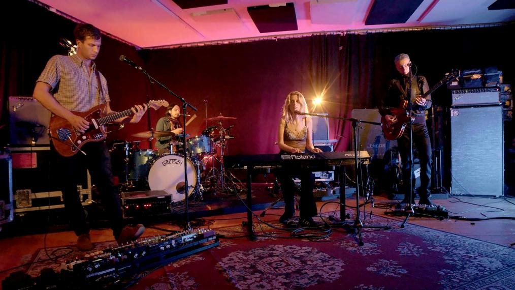Wolf Alice performing live for WFUV