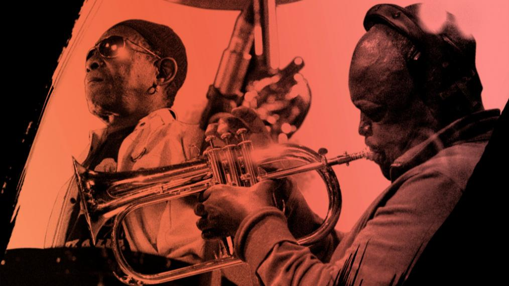 Tony Allen and Hugh Masekela (photo by Hugo Glendinning & Gavin Rodgers, PR)