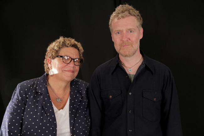 Rita Houston and Glen Hansard at WFUV
