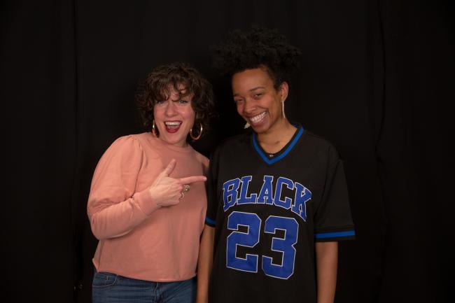 Jamila Woods with Carmel Holt at WFUV