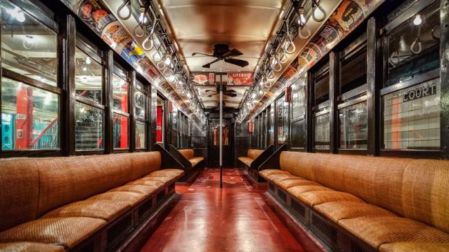 Antique NYC Subway Car (photo by Kevin Case, courtesy of CC 2.0)