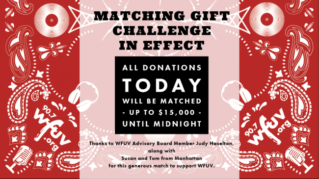 Match Gift Challenge Today Only