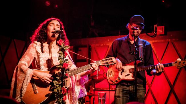 Bedouine at Rockwood Music Hall (photo by Kevin Albinder/WFUV)